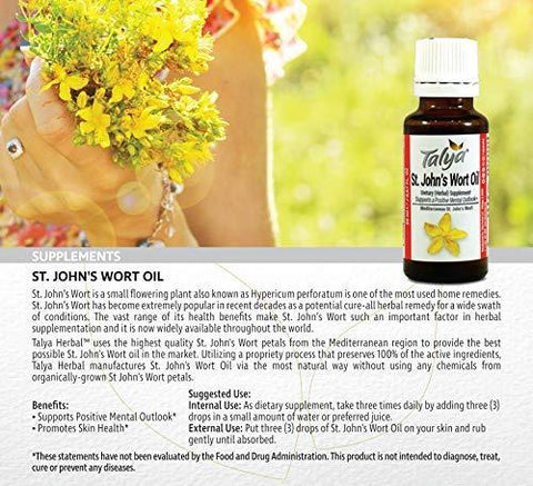 Talya St. John's Wort Oil - Macerated Extraction - Positive Mood and Emotional Balance