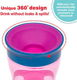 NUK Magic 360 Sippy Cup, Pink, 13oz 1pk Girl Colors