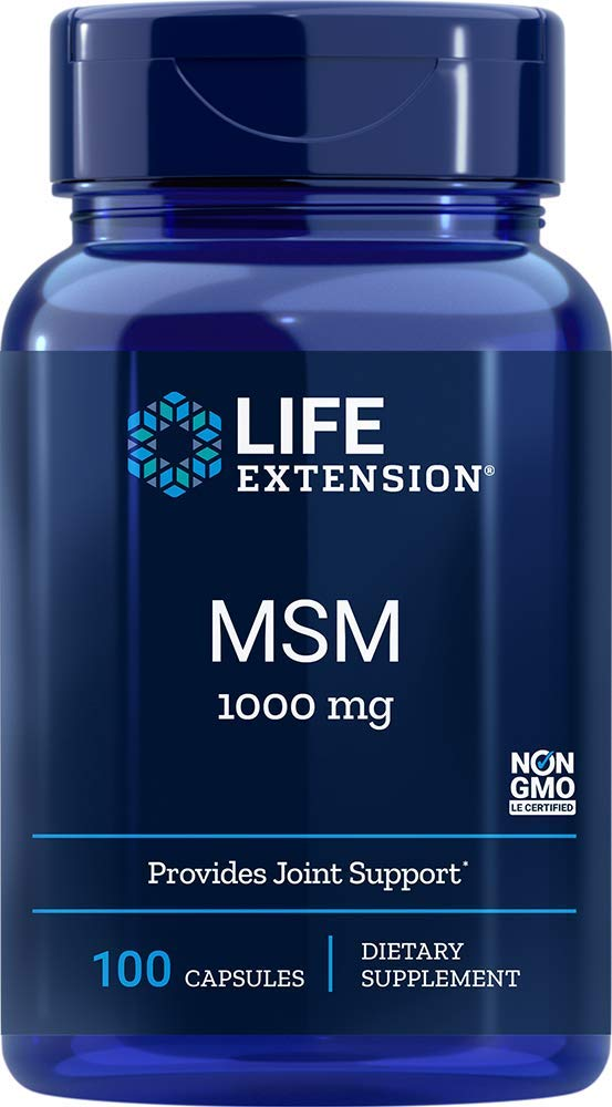 Life Extension MSM 1000 Mg, 100 Capsules Standard Packaging