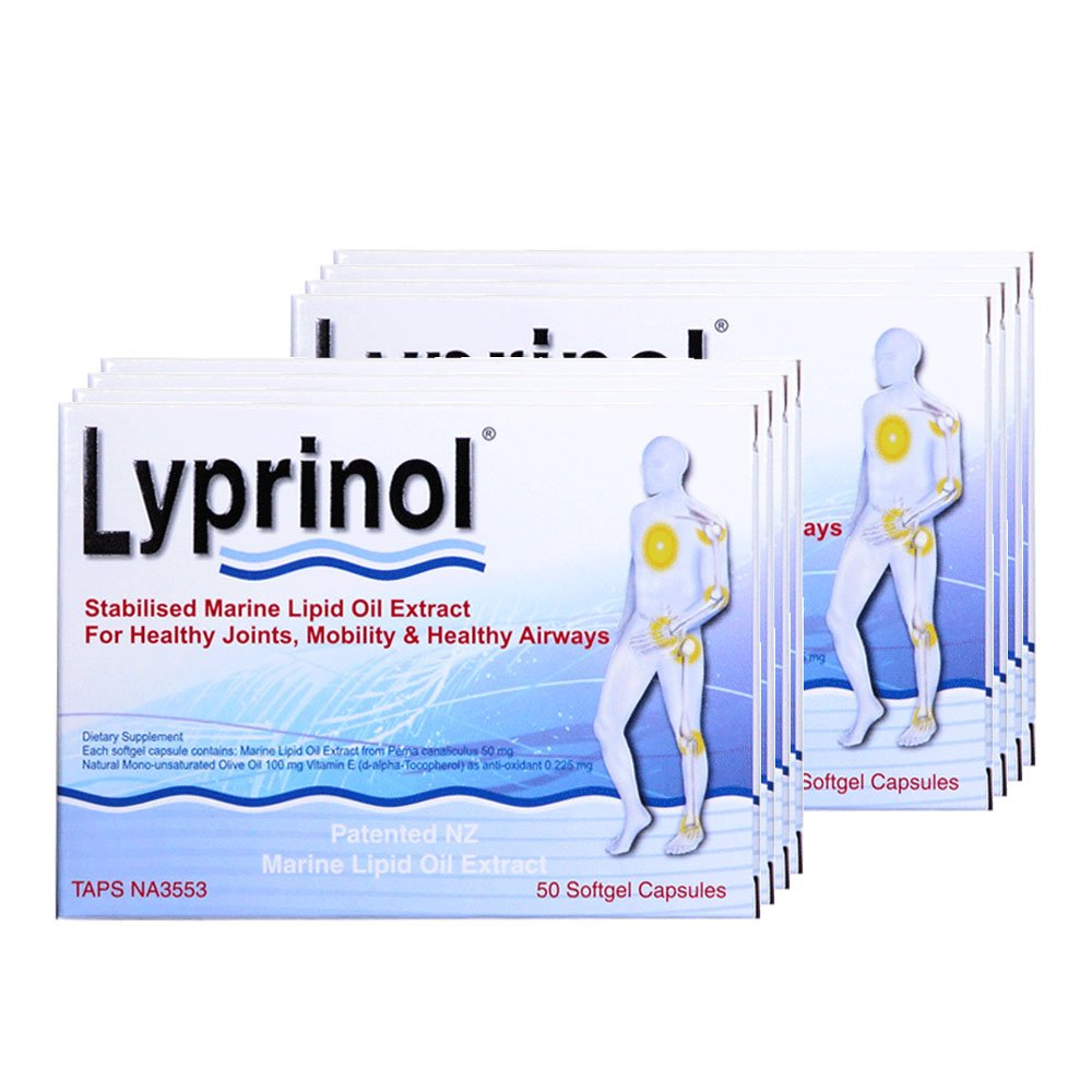 Pharma Lyprinol® Pcso-524® 200 Capsules New Zealand Green Lipped Mussel Extract Oil Joint Health Support & Mobility (Pack of 2)