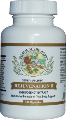 REJUVENATION II Multi-Herbal Supplement for Total Body Support! 100 Capsules