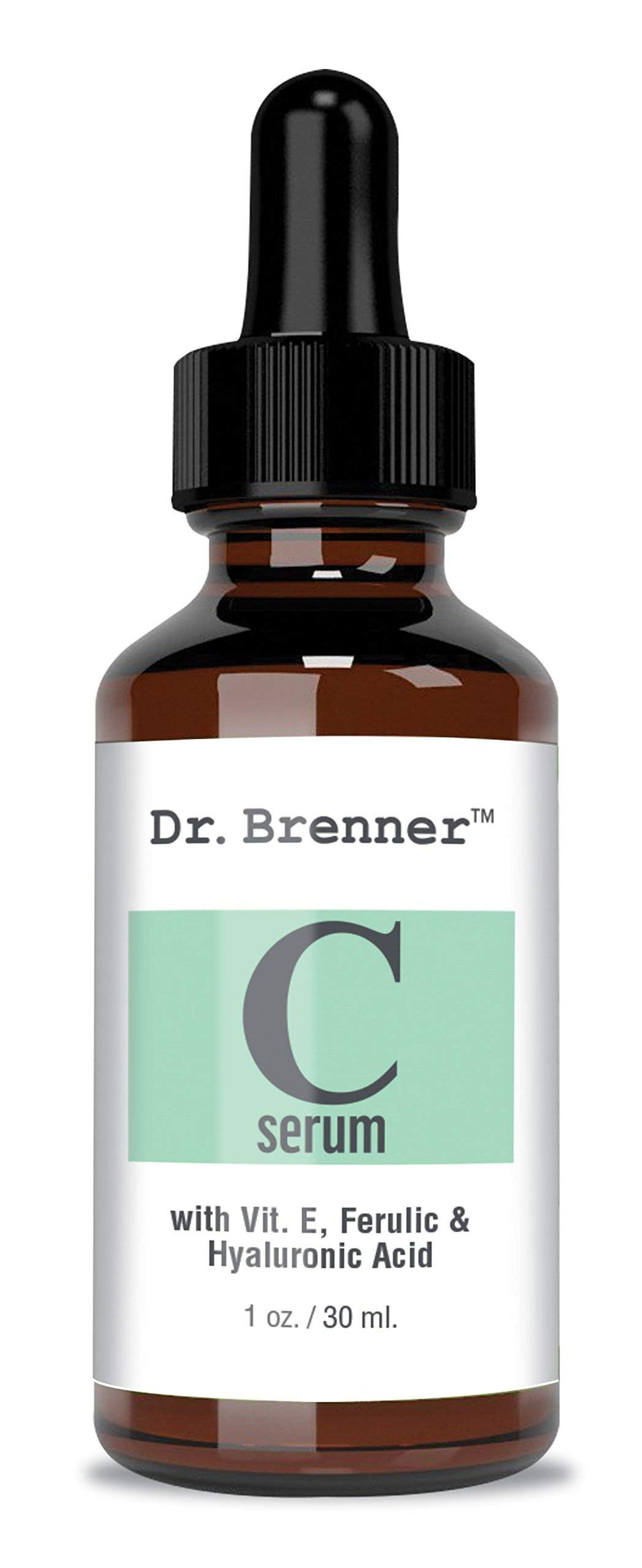 Vitamin C Serum 20% Pure L-Ascorbic Acid, Ferulic Acid, Vitamin E and Hyaluronic Acid for Face and Eyes Natural Anti Aging Anti Wrinkle 1oz. by Dr. Brenner 1 Ounce