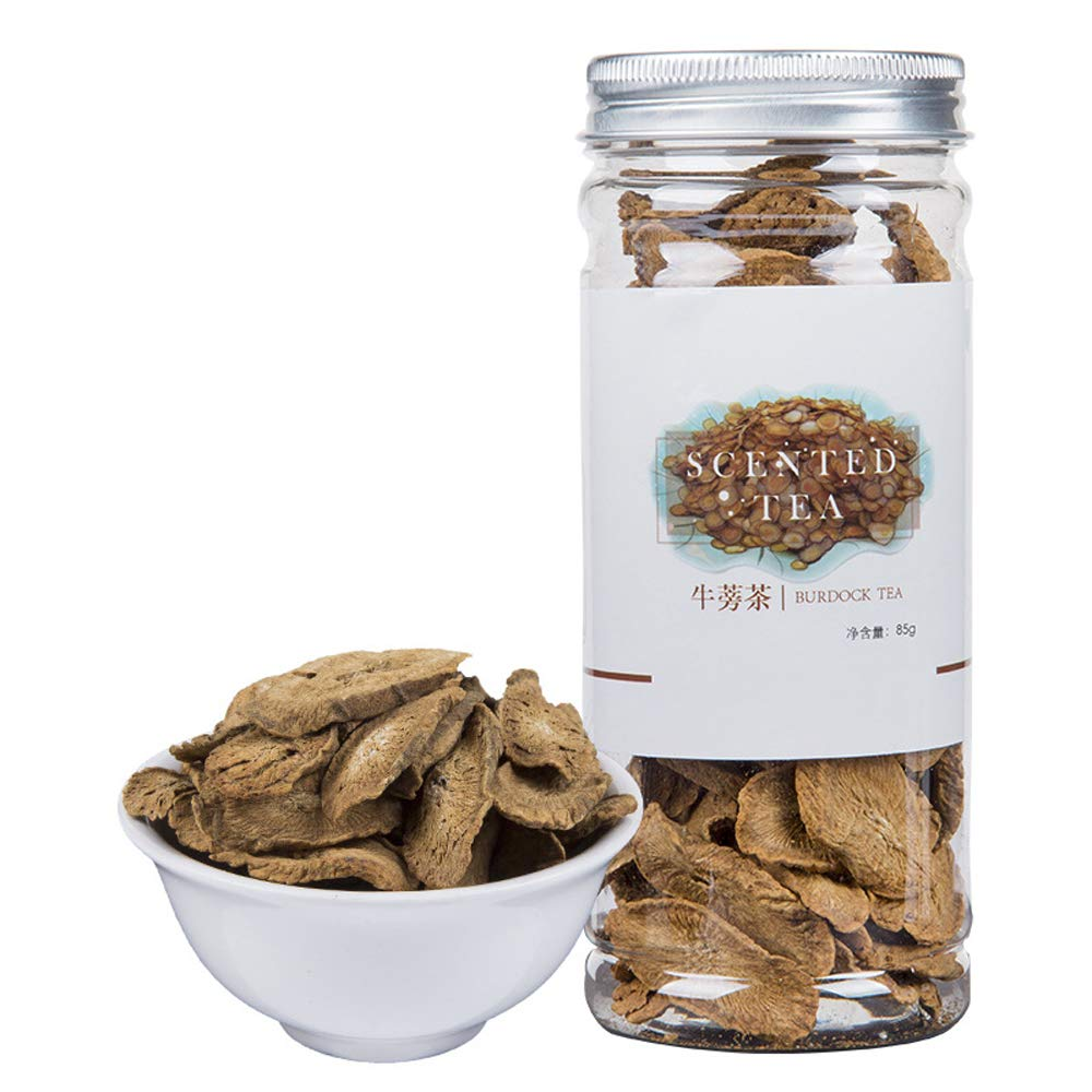 Burdock Root Slices Tea,Dried Wild Arctium Lappa L.,Chinese Flora Herbal Tea Supplement,Aid Digestion,Loose Weight,Burning Fat,Skin Care,Niu Pang-90G