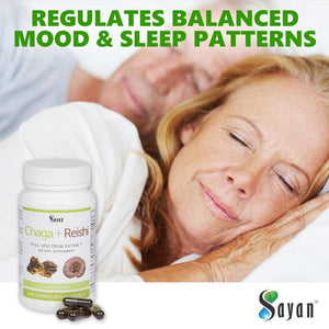 Sayan Siberian Chaga and Organic Reishi Extract Supplement 440mg - Wild-Harvested, Unique Mushroom Blend for Immune System Support + Natural Energy Boost, Non-GMO, Gluten Free, 90 Vegetarian Capsules Chaga + Reshi