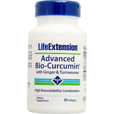 Life Extension Advanced Bio-Curcumin with Ginger & Turmerones, 30 softgels