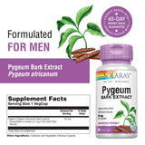 Solaray Pygeum Africanum Extract, 50 mg, 60 Count 60 Capsules