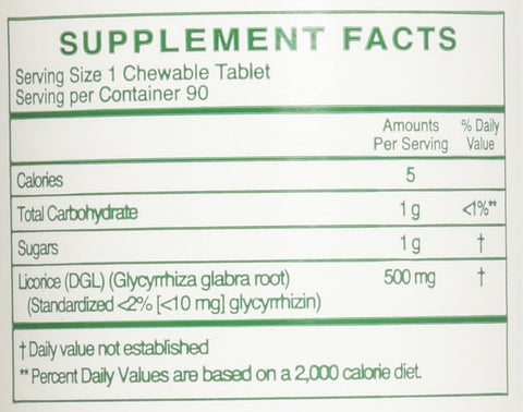 Rx Vitamins Chewable Licorice DGL, 90 Count