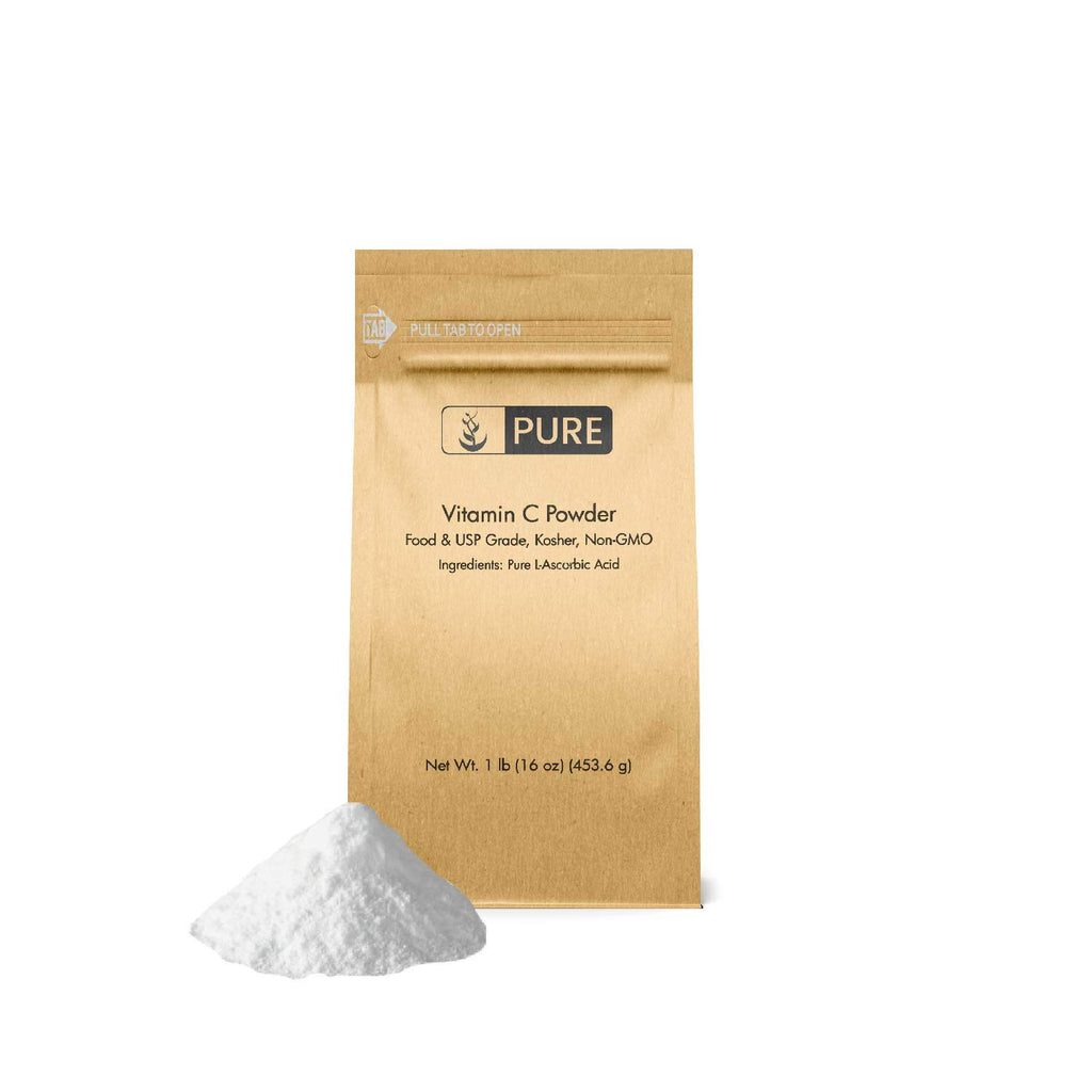 Vitamin C Powder (1 lb.) by Pure Organic Ingredients, Eco-Friendly Packaging, L-Ascorbic Acid, Antioxidant, Boost Immune System, DIY Skin Care