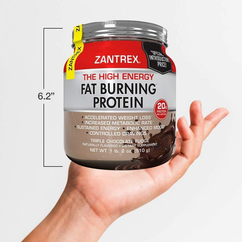 Zantrex High Energy Fat Burning Protein, Triple Chocolate Fudge, 18 oz