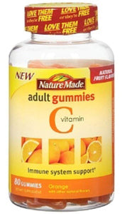 Nature Made Vitamin C Adult Gummies, Tangerine 80 ea (Pack of 6) Pack of 6