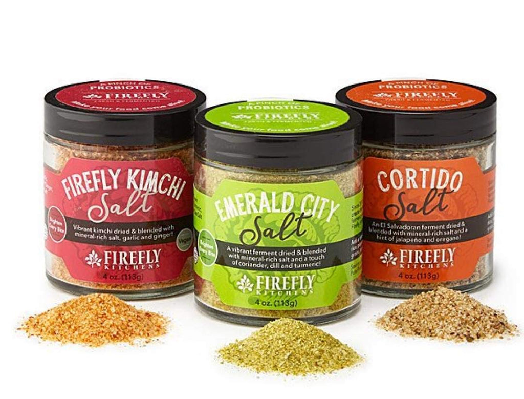 FIREFLY KITCHENS Firefly Salt A Bright Freeze-Dried Ferment Infused with Mineral-Rich Salts and Organic Spices (Ferment-Infused Sea Salt - 3 Pack) Ferment-Infused Sea Salt - 3 Pack