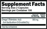 Omega 7 Fatty Acids 200 Capsules 100 Servings