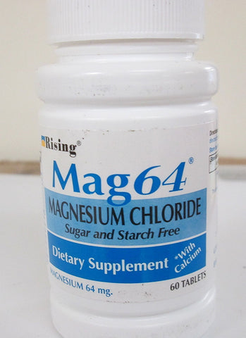 Rising Mag64 Magnesium Chloride with Calcium Tablets 60 ea