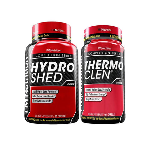 FM Nutrition - Extreme Weight Loss Bundle - Thermo CLEN ® (Fat Burner, 1 Month Supply) & Hydro SHED ® (Diuretic, 10 Day Supply)