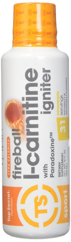 Top Secret Nutrition Fireball L-Carnitine Liquid w/Paradoxine, Apple, 16 Ounce