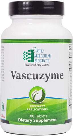 Ortho Molecular - Vascuzyme - 180 Tablets