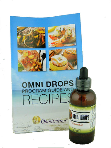 Omni Drops Diet Drops with Vitamin B12 - 4 oz with Program Guide
