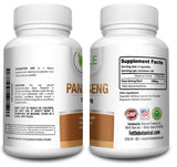Pure Panax Ginseng 1000mg per serving 180 Veggie Capsules Root High Potency Asian Powder Supplement Tablet Pills caps by Fettle Botanical