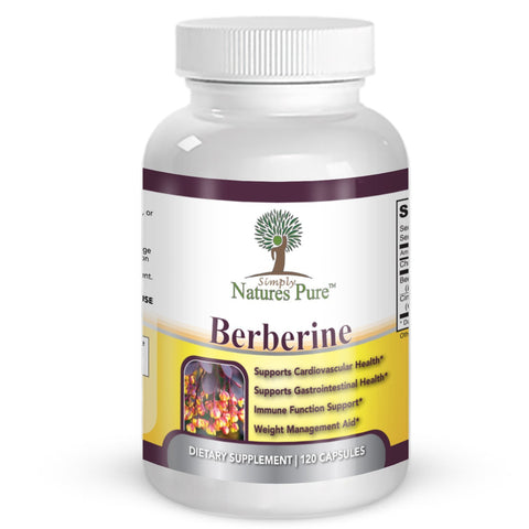 Premium Berberine HCl 500mg - 120 capsules - cardiovascular gastrointestinal immune weight loss support- Chromium Cinnamon Pack of 1