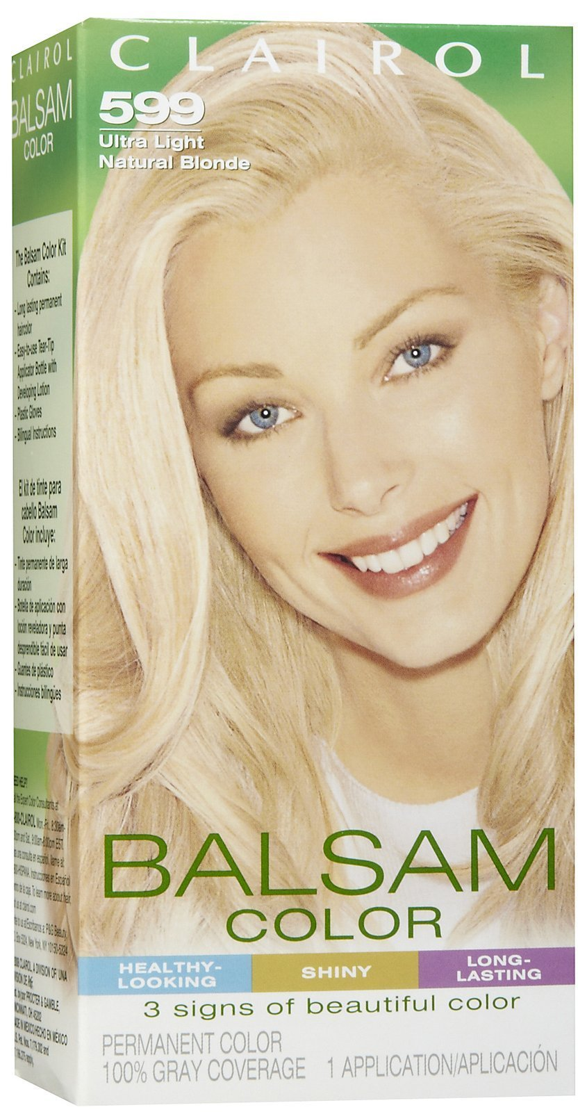 Clairol Balsam Hair Color, Ultra Light Natural Blonde (599) - 1 ea Pack of 1