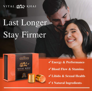 Vital Khai Box - Natural and Herbal Supplement for Men - Increase Energy, Stamina and Health (Full Box, 50 Supplements) 50 Count