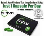ELEV8 - Energy Pill with Cordyceps, Chaga, Gano, Rhodiola Rose and more (60 Capsules + 10 Free Capsules)