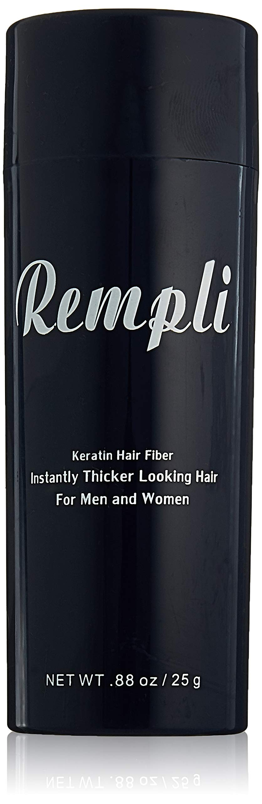Rempli Keratin Instant Hair Fibers Beard Filler LARGE 25g (.88oz) 60 Day Supply (Black)