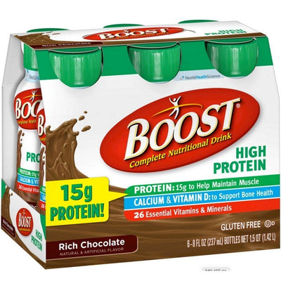 Boost Choc High Protein B Size 6/8z Boost Chocolate High Protien Bottle 6-8z