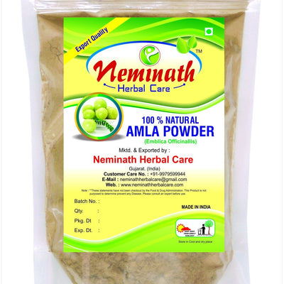 100% Natural Amla Fruit (EMBLICA OFFICINALIS) Powder as Hair Vitalizer Naturally by Neminath Herbal Care (1/2 lb/8 ounces/227 g) 227 Gram