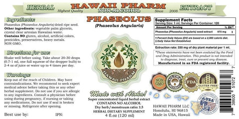 Phaseolus (Phaseolus Angularis) Glycerite, Organic Dried Ripe Seeds Alcohol-Free Liquid Extract, Chi Xiao Dou, Glycerite Herbal Supplement 2 oz 2 Ounce