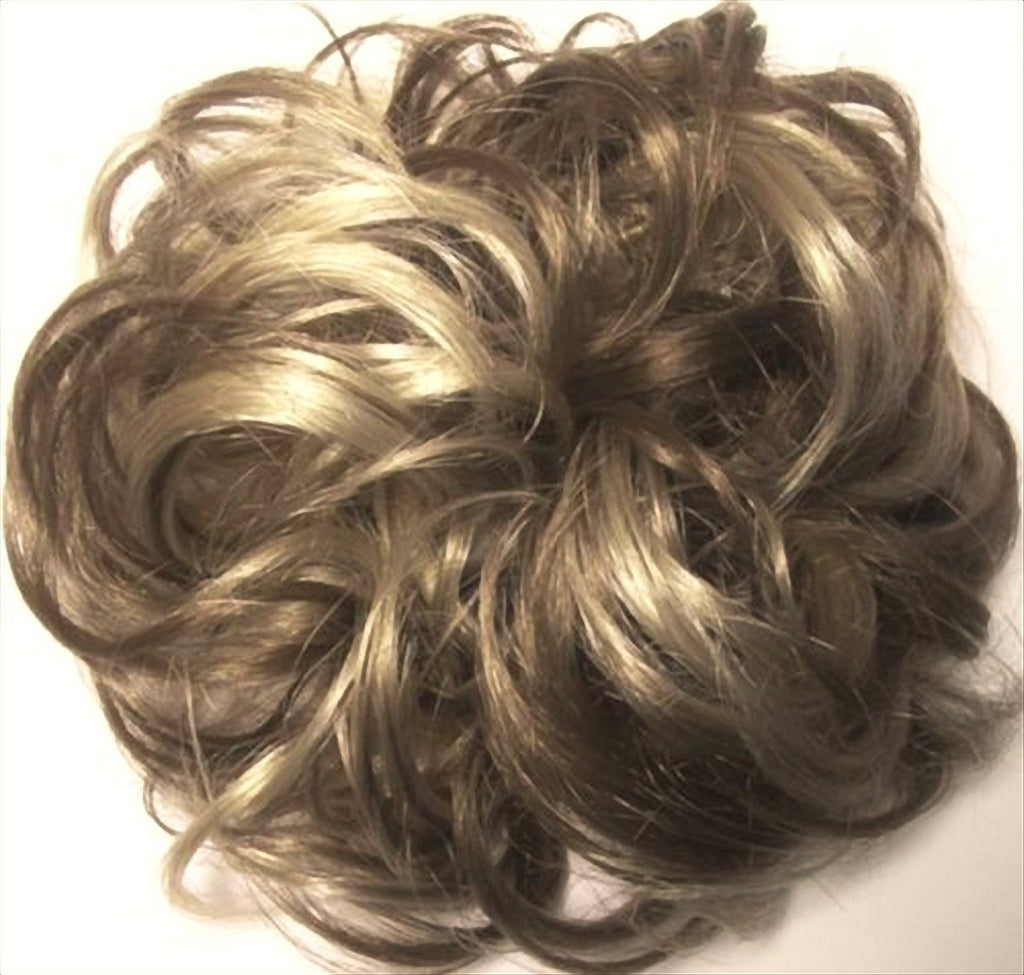 LACEY 3 inch Pony Fastener Hair Scrunchie - 18-22 Ash Brown-Ash Blonde