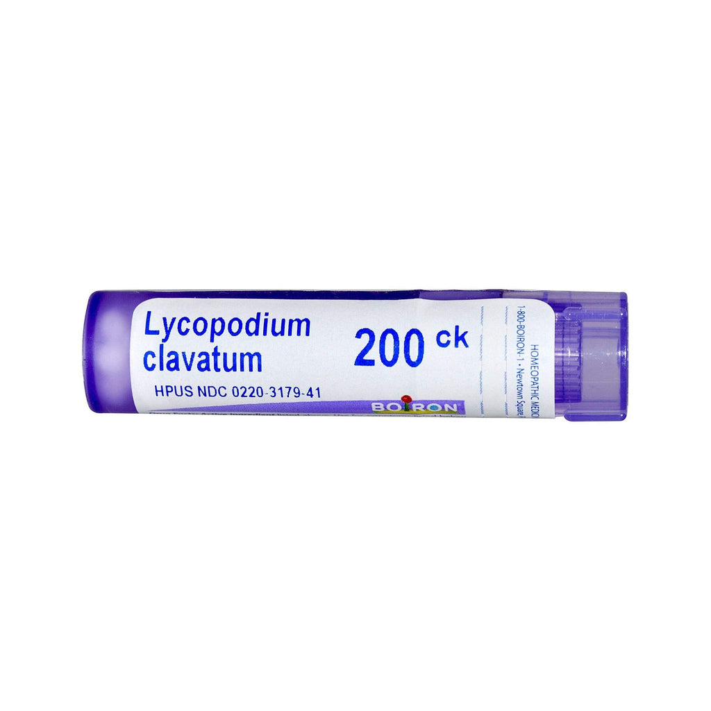 Boiron Lycopodium Clavatum 200CK, 80 Pellets, Homeopathic Medicine for Bloating and Gas 1 Count