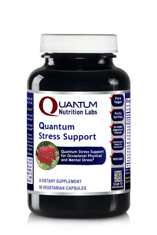 Quantum Stress Support, Vegan Product, 90 Capsules - Physical and Mental Stress Support Formula