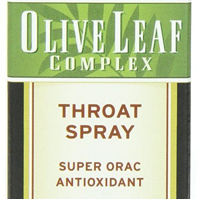 Barlean's Organic Oils Olive Leaf Complex Throat Spray, Peppermint Flavor 1.5-Ounce (Pack of 2) 2 Pack