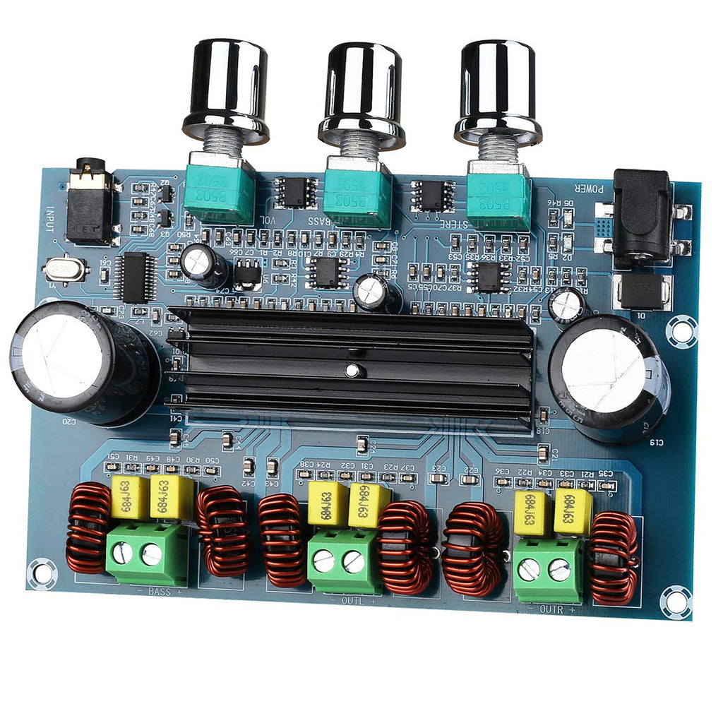 Clyxgs Digital Power Amplifier Board TPA3116D2 2.1 Channel 100W+2x50W 5.0 Wireless Audio Stereo Amplifier for DIY Speakers DC12-24V