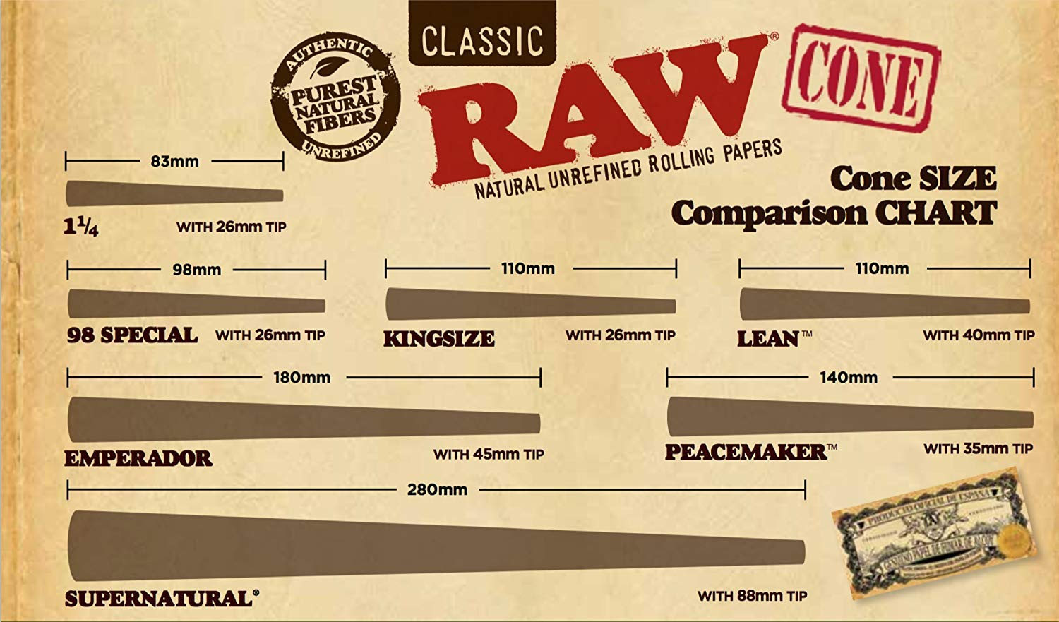 RAW Classic Natural Unrefined 20-Stage Rawket Launcher - 20 Cone Variety Pack (1 Pack) 1