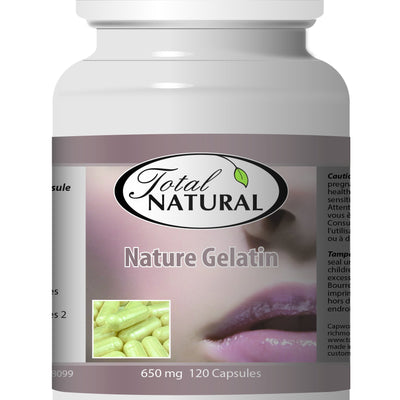 Nature Gelatin 650mg 120c [2 Bottles] by Total Natural, Rich in Collagen, Body Skin and Hair Care, Helps Hormone Balance, Healthy Teeth and Gums 2