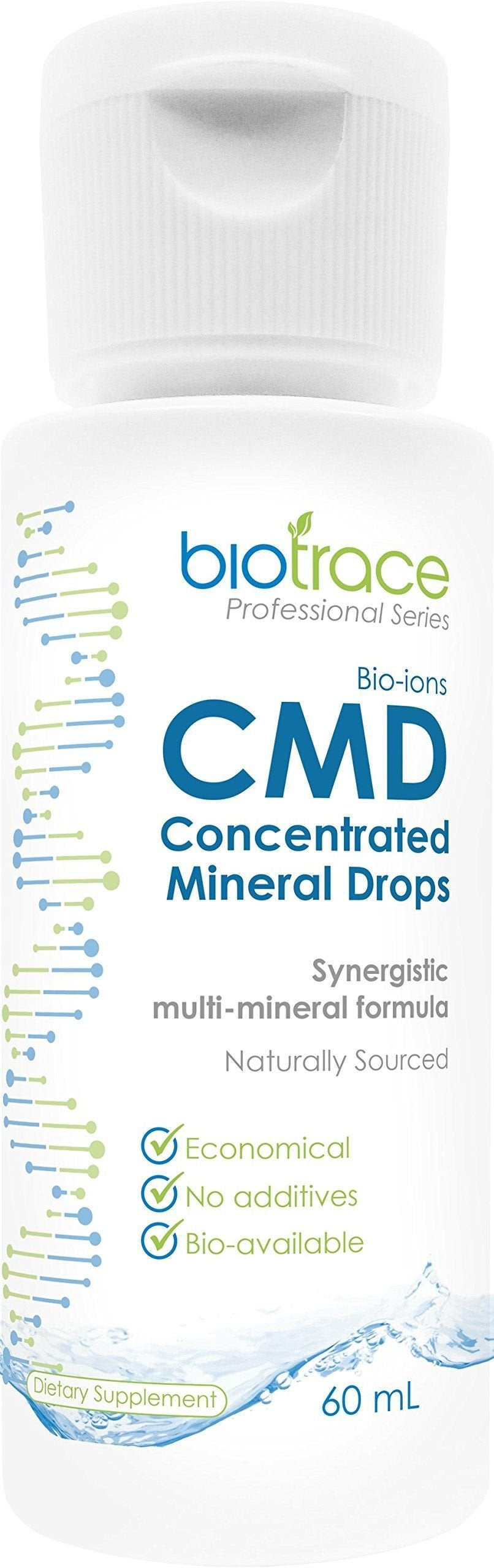 Trace Minerals Drops, BioTrace Concentrated Mineral Drops 2.03 Fl Oz– Highest Concentrated Sea Minerals- Liquid Ionic Mineral Supplements for Better Adsorption of Vitamins & Nutrients, Body pH Balance