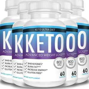 Keto Ultra Diet - Advanced Weight Loss - Ketosis Supplement (5 Month Supply) 5 Month Supply