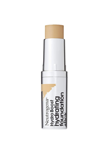 Neutrogena Hydro Boost Hydrating Foundation Stick with Hyaluronic Acid, Oil-Free & Non-Comedogenic Moisturizing Makeup for Smooth Coverage & Radiant-Looking Skin, Natural Beige, 0.29 oz