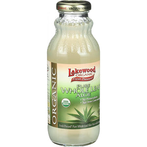 Lakewood Aloe Whole Leaf Juice Pure 12.5 FZ (Pack of 6)