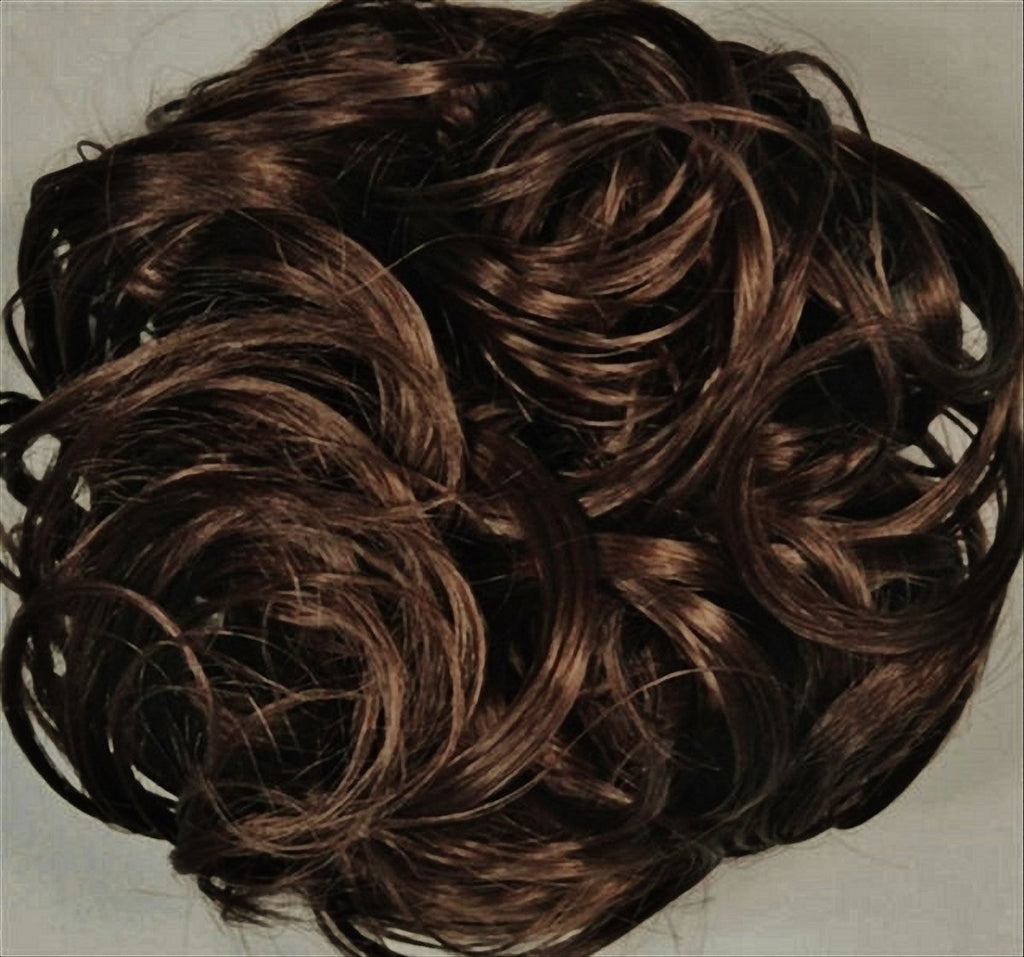 KATIE 7-inch Pony Fastener Hair Scrunchie - 6 Dark Chestnut Brown