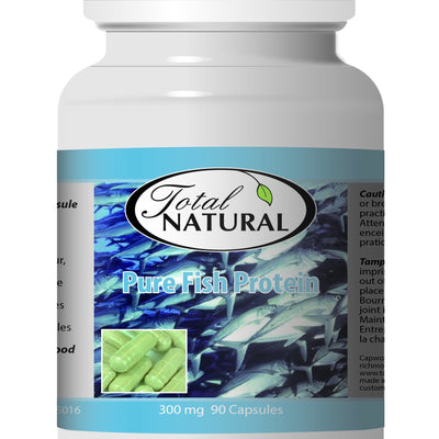 Pure Fish Protein 300mg 90c [2 Bottles] by Total Natural, Body and Hair Care, Helps Hormone Balance, Healthy Reeth and Gums, Rich in Collagen 2
