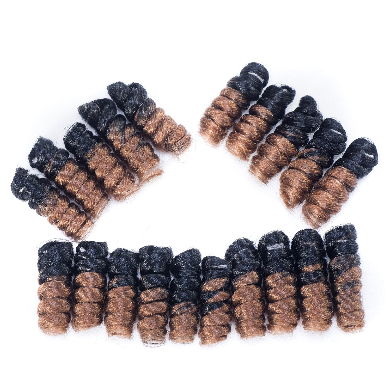 5 Packs Synthetic Saniya Curl Crochet Hair 10 inch Small Curly 20roots/pack Spiral Crochet Braids Hair (#T1B/27) #T1B/27