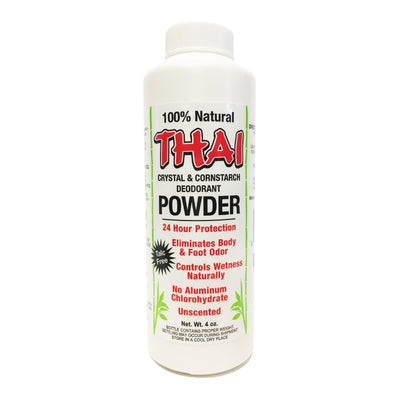 Thai Deodorant Stone Pure and Natural Powder, 4 Ounce