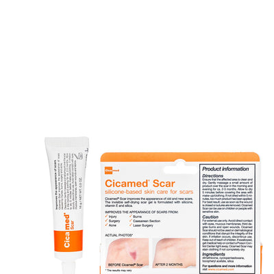 Cicamed Scar Treatment, Scar Removal Repair Correcting Gel, Flexible Clear for Face and Body