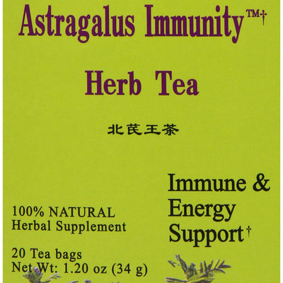 Health King Astragalus Immunity Herb Tea, Teabags, 20 Count Box