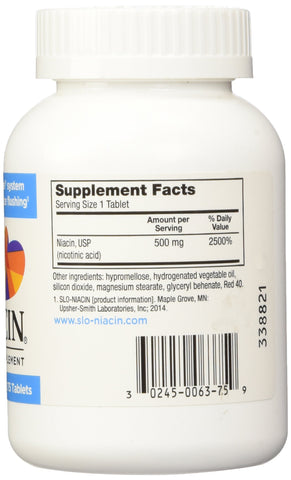 Slo-Niacin 500mg 175 Tablets