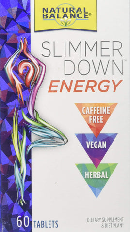 Natural Balance Slimmer Down Energy Vegan Supplements, 60 Count