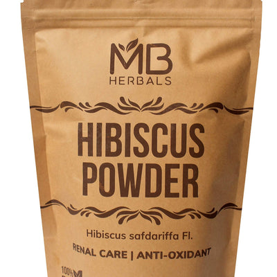 MB Herbals Hibiscus Powder | 227g | Half Pound | Hibiscus safdariffa Flower Powder | for Refreshing Tea & Hair Care